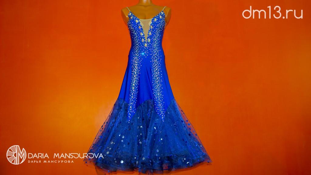 Конкурсное бальное платье со стразами сваровски